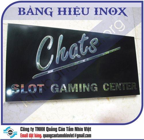 Mẫu bảng hiệu inox 106