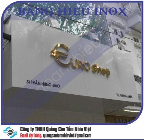 Mẫu bảng hiệu inox 111