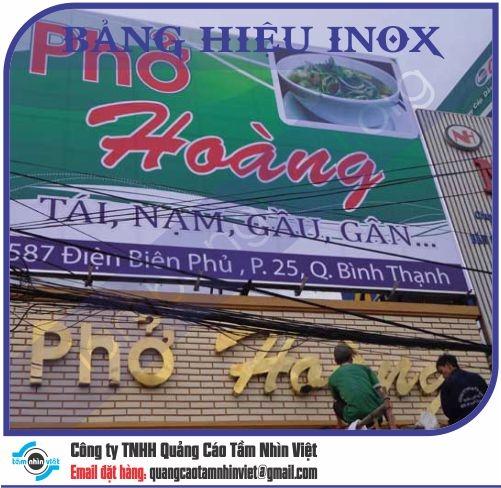 Mẫu bảng hiệu inox 112