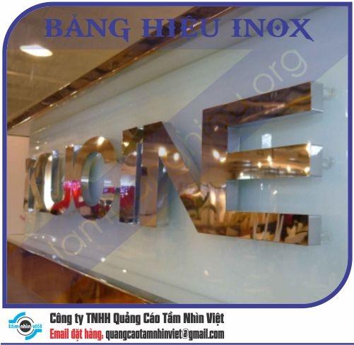 Mẫu bảng hiệu inox 114
