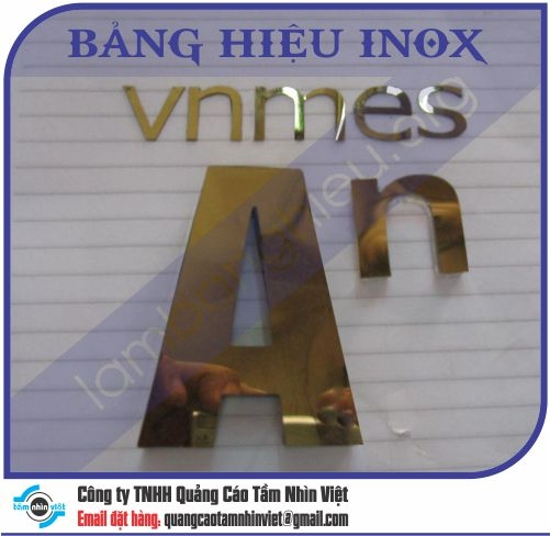 Mẫu bảng hiệu inox 122