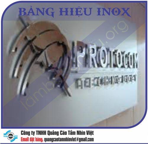 Mẫu bảng hiệu inox 127