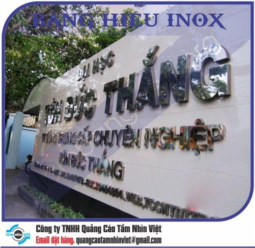 Mẫu bảng hiệu inox 132
