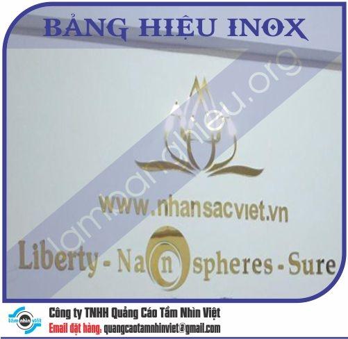 Mẫu bảng hiệu inox 142