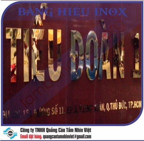 Mẫu bảng hiệu inox 147
