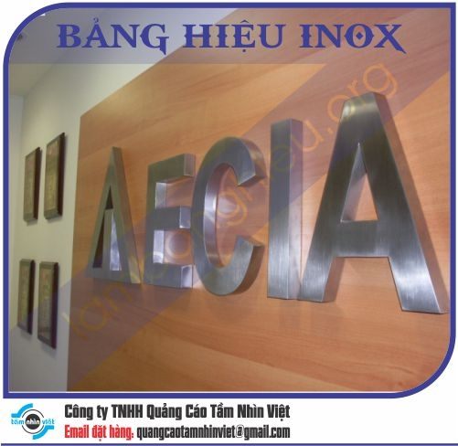 Mẫu bảng hiệu inox 156