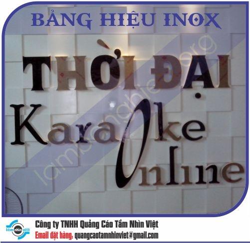 Mẫu bảng hiệu inox 158