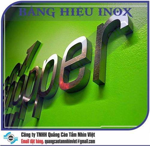 Mẫu bảng hiệu inox 163