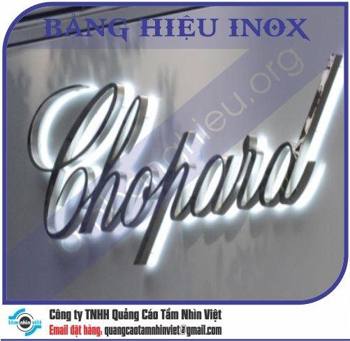 Mẫu bảng hiệu inox 166