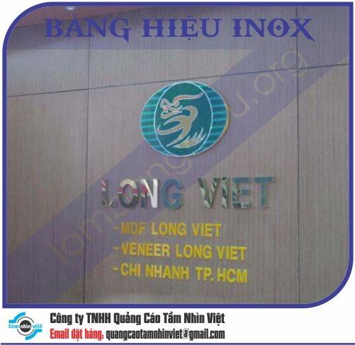 Mẫu bảng hiệu inox 172