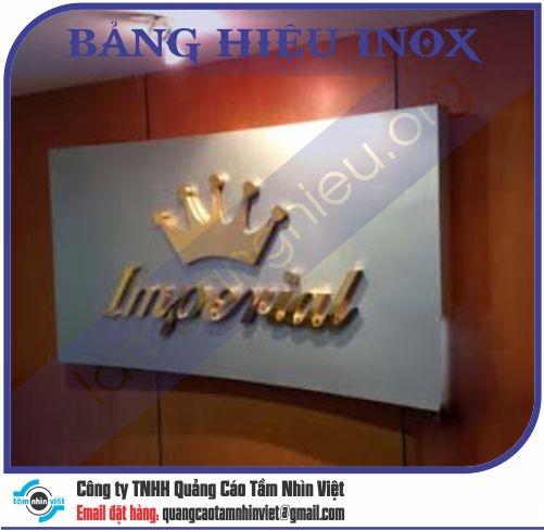 Mẫu bảng hiệu inox 173