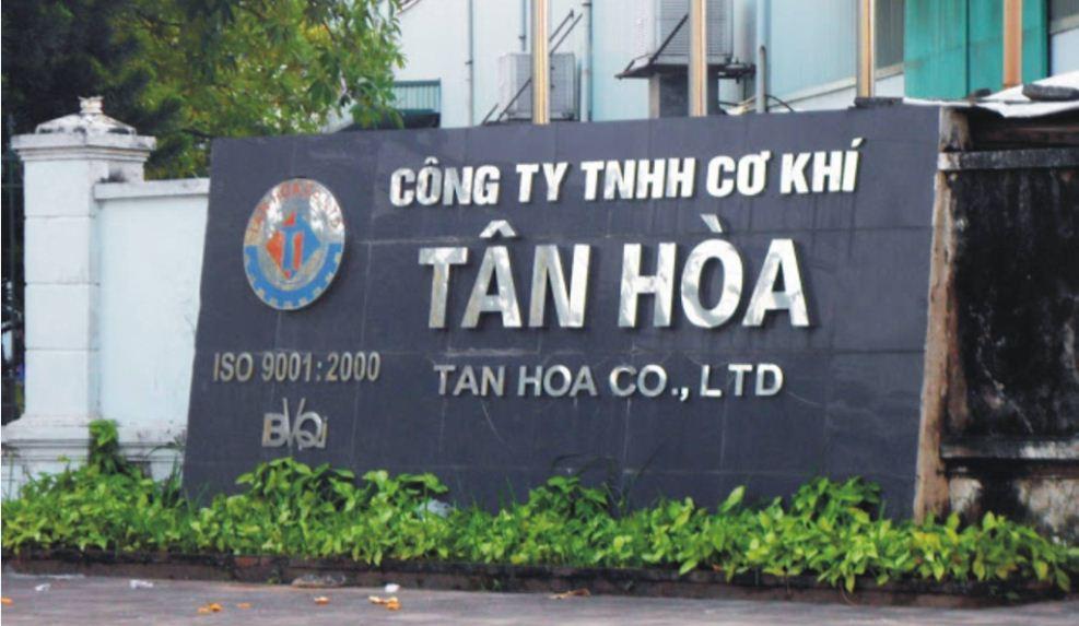 Chữ nổi inox công ty cơ khí Tân Hòa