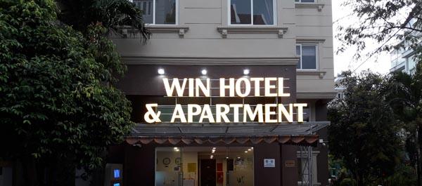 Chữ nổi mica Win Hotel Apartment