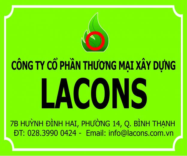Làm bảng hiệu công ty Lacons