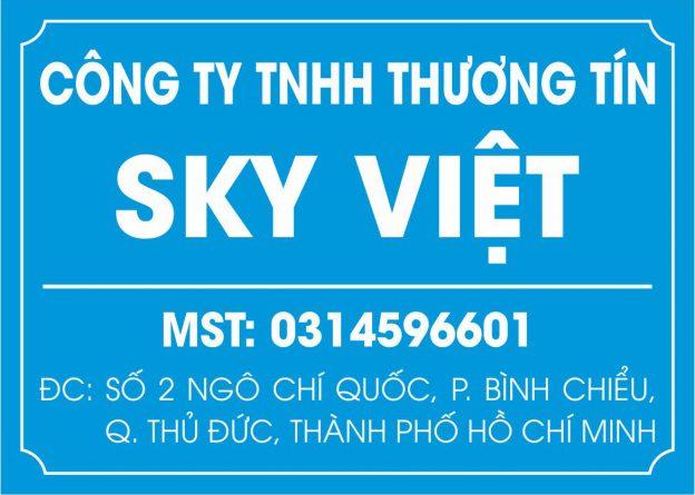 Làm bảng hiệu mica công ty Sky Việt