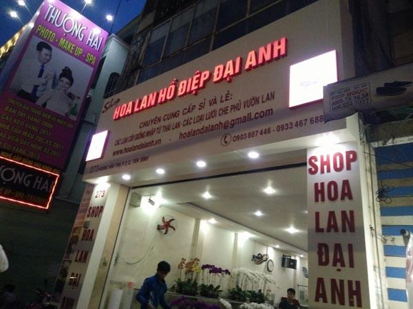 Làm bảng hiệu Alu shop Hoa Lan Đại Anh