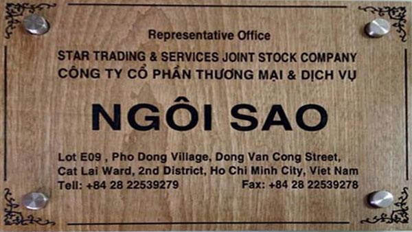 Làm bảng hiệu gỗ Tầm Nhìn Việt