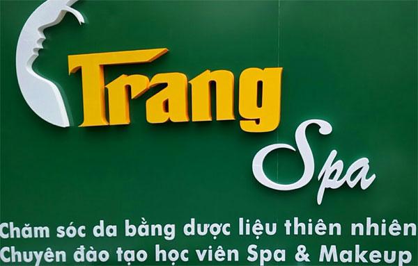 Làm bảng hiệu Alu cửa hàng Trang Spa