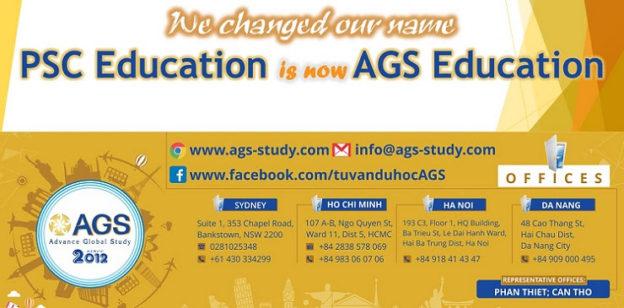 Làm bảng hiệu công ty giáo dục AGS