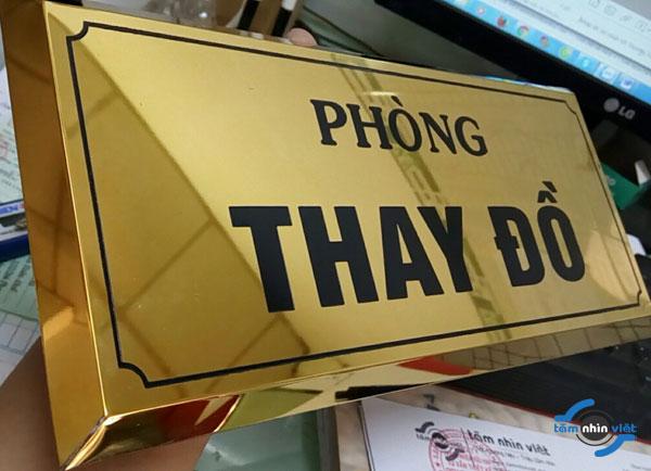 Làm bảng hiệu inox phòng ban – QC Tầm Nhìn Việt