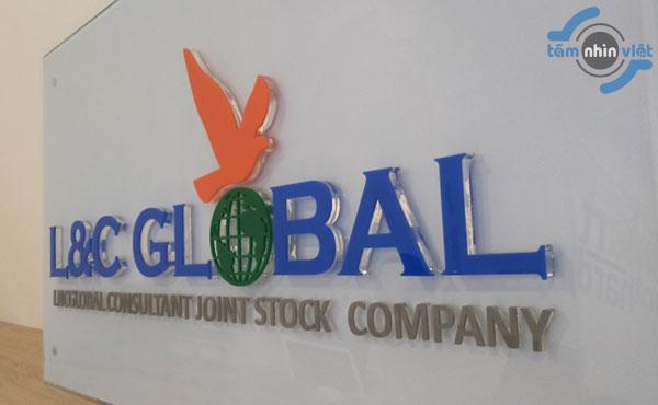 Làm bảng hiệu mica ghép công ty L&C Global