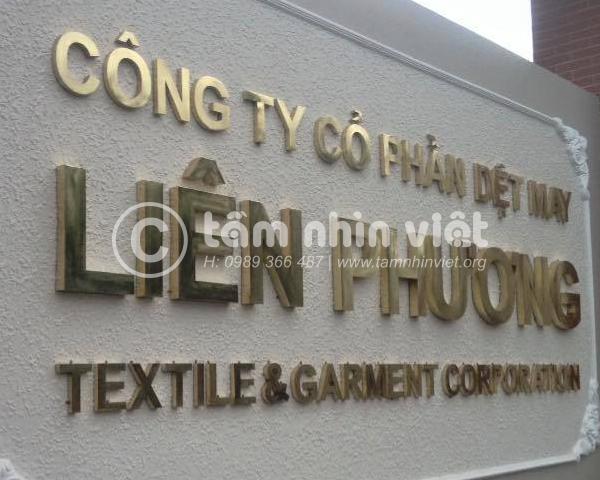 Làm bảng hiệu công ty đẹp Sài Gòn