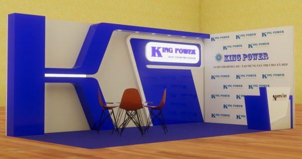 Thi công gian hàng hội chợ công ty King Power