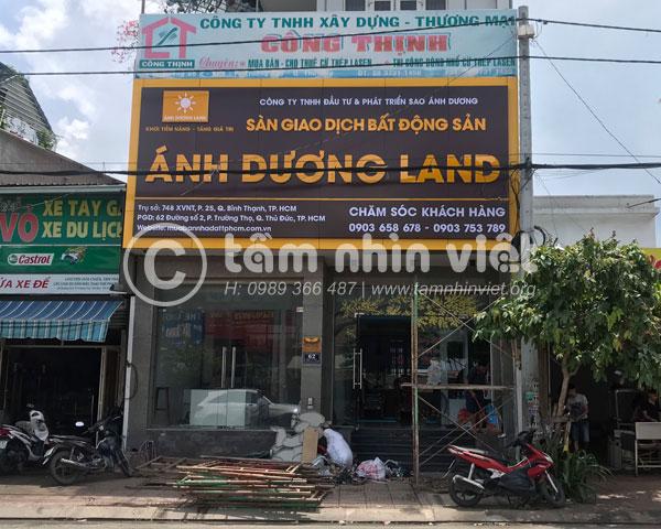 Làm bảng hiệu alu sàn giao dịch bất động sản Ánh Dương Land