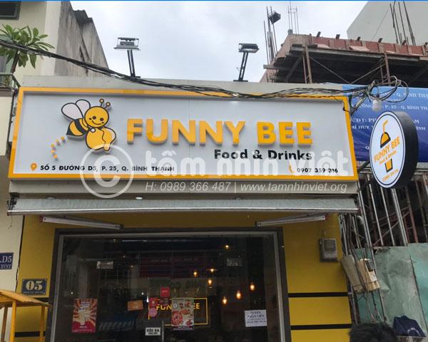 Bảng hiệu Alu cửa hàng food & drinks Funny Bee