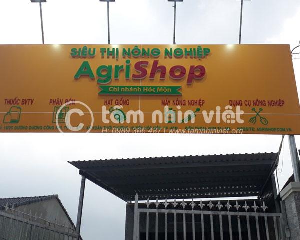 Bảng hiệu quảng cáo đẹp siêu thị nông nghiệp Agrishop