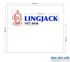 Làm chữ nổi mica logo LINGJACK