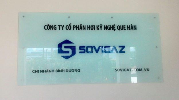 Bảng hiệu kính công ty SOVIGAZ