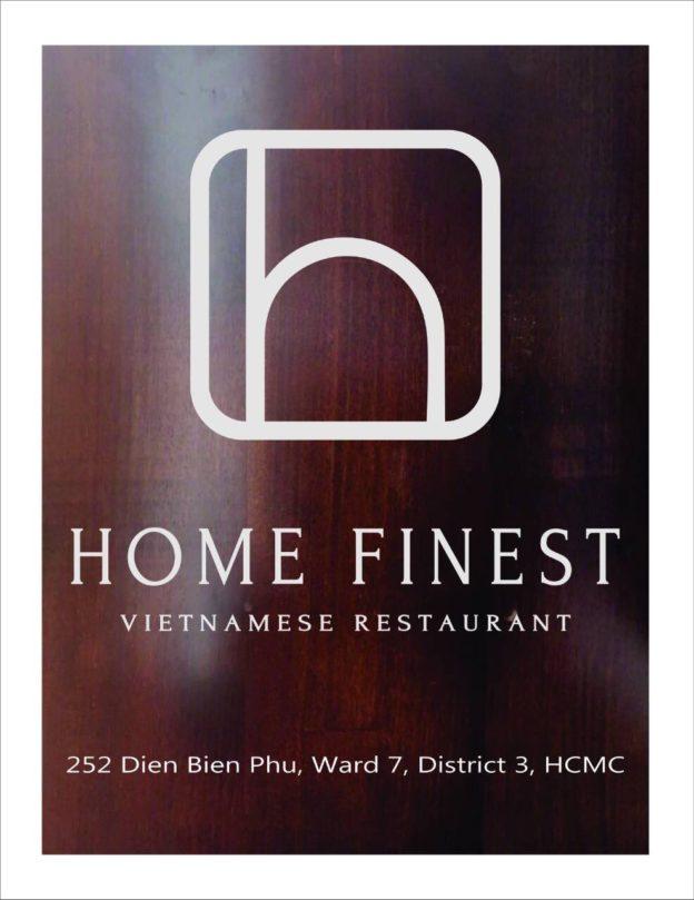 Làm bảng hiệu gỗ quán ăn Home finest