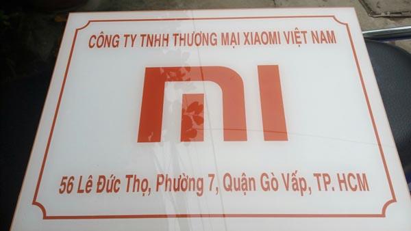 Làm bảng hiệu Mica công ty XIAOMI Việt Nam