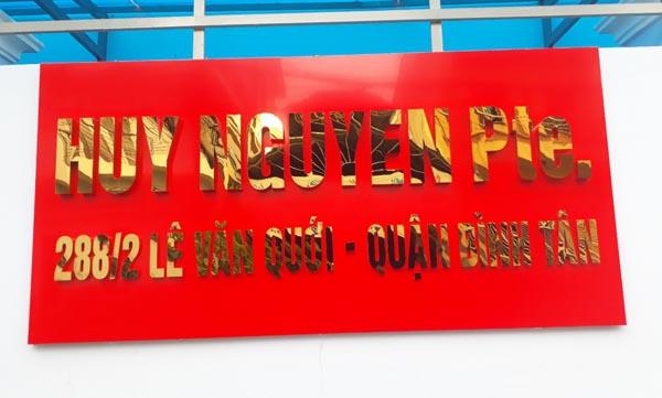 Làm bảng hiệu Alu công ty Huy Nguyễn