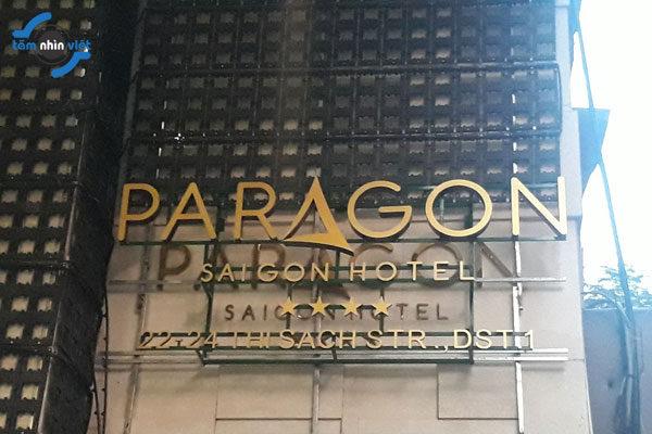 Thi công chữ nổi mica Paragon – Saigon Hotel