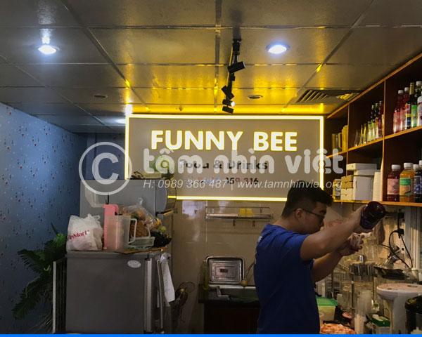 Làm bảng hiệu Alu cửa hàng food & drinks Funny Bee